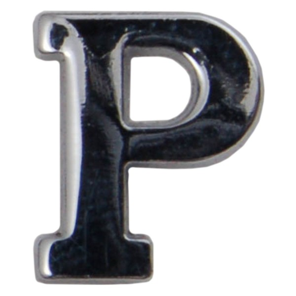 Silver Metallic Letter P With Clutch Pin