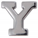 Silver Metallic Letter Y With Clutch Pin