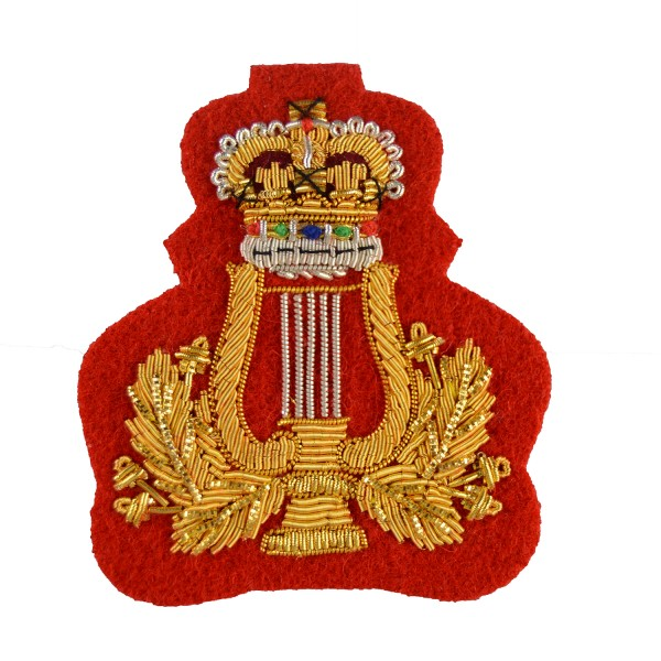 Crown and Lyre – Rank Badge – Corps of Army Music - British Army Badge