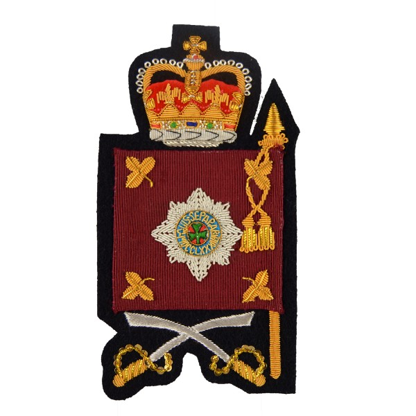 Colour Sergeants and Company Quartermaster Sergeants  – Rank - Household Division - Irish Guards - British Army Badge