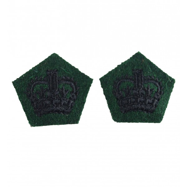 Crown Pip - Rank Badge - Royal Green Jackets - British Army Badge