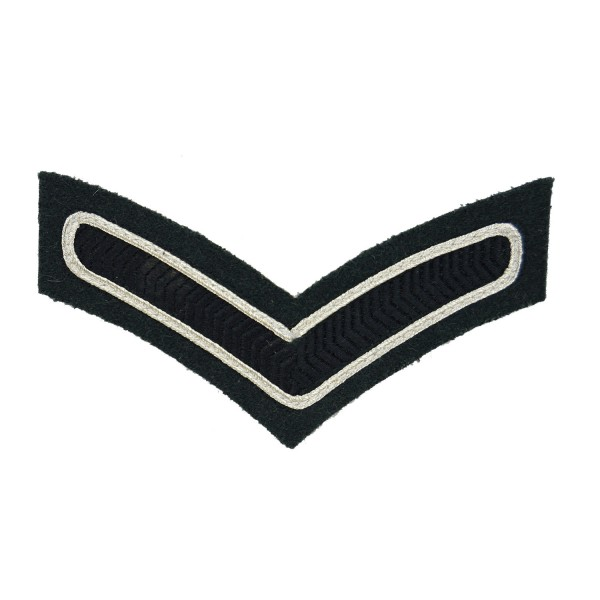 1 Bar Chevron Lance Corporal (LCpl) – Service Stripe – The Rifles - Infantry - British Army Badge