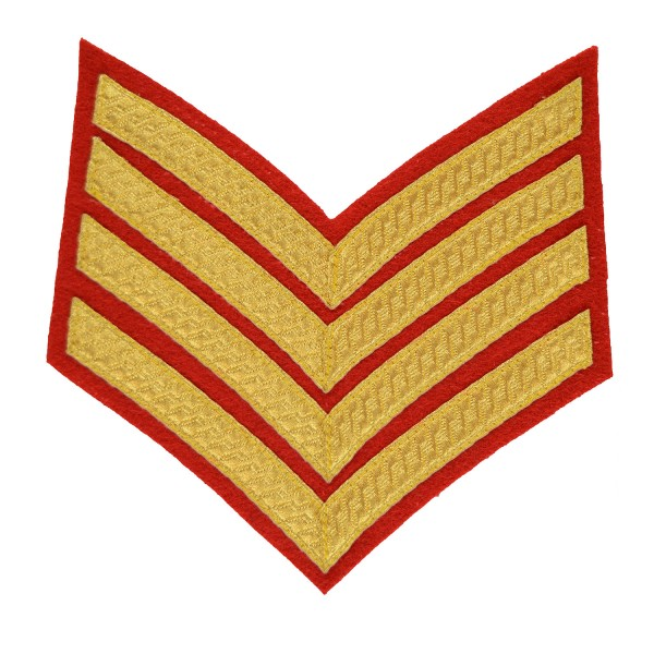 4 Bar Chevrons Drum Major – Service Stripe - Royal Marines Badge