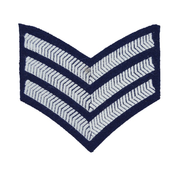 3 Bar Chevrons Sergeant (Sgt) - Service Stripe - Royal Air Force Badge