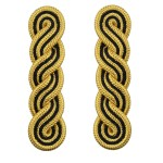Infantry Regiments Warrant Officer Class 1 (WO1) Epaulette - Black and Gold