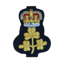 Irish Shamrock - Lord-Lieutenant Cap Badge - Hand Embroidered