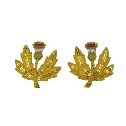Lieutenancy Gold Scottish Thistle Rank Badge