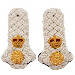 English Lord Lieutenant Silver Shoulder Cord Epaulettes