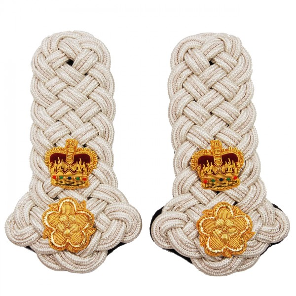 English Lord-Lieutenant Silver Shoulder Cord Epaulettes