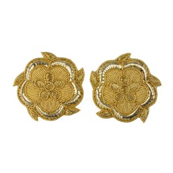 Lieutenancy Gold Rose Rank Badge