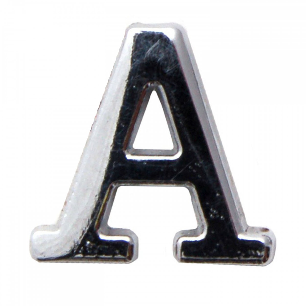 silver metallic letter a with clutch pin. Black Bedroom Furniture Sets. Home Design Ideas