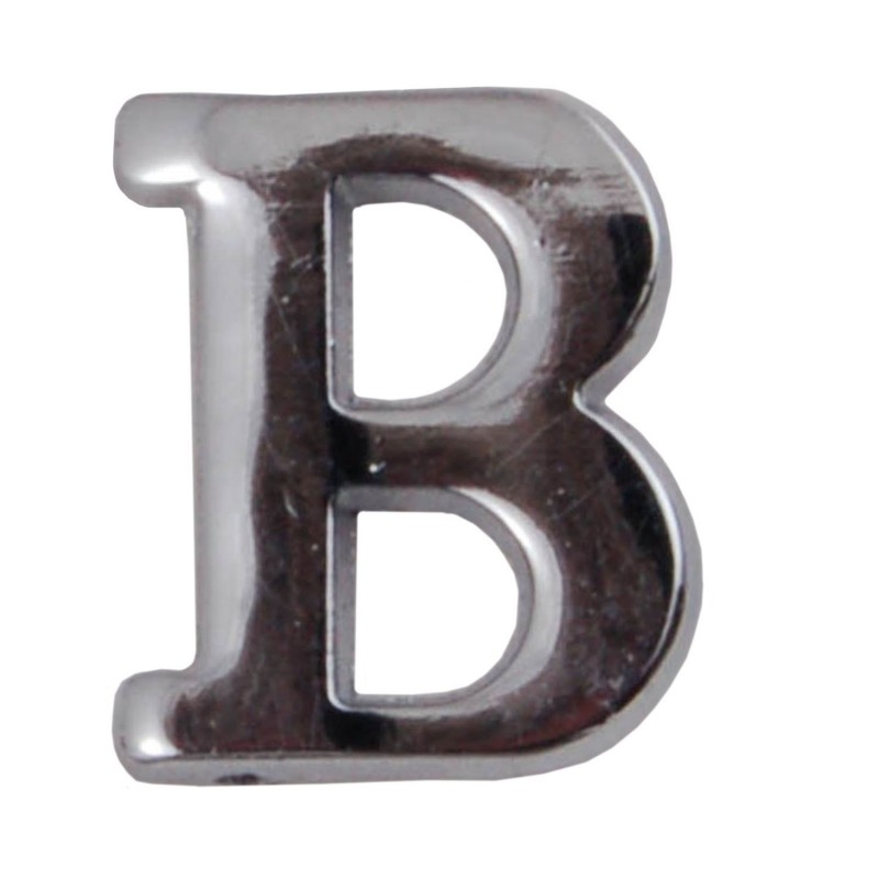 Silver Letter B: Silver Metallic Letter B With Clutch Pin