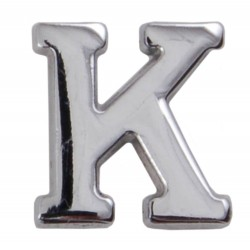 Silver Metallic Letter K With Clutch Pin