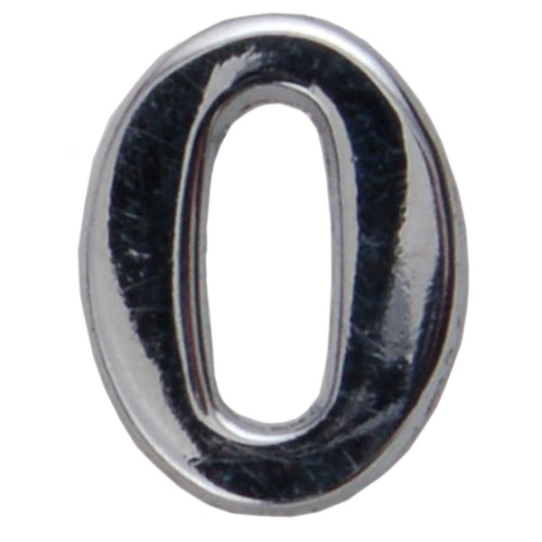 Silver Metallic Letter O With Clutch Pin