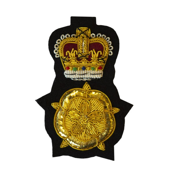 English Rose - Lord-Lieutenant Cap Badge - Hand Embroidered