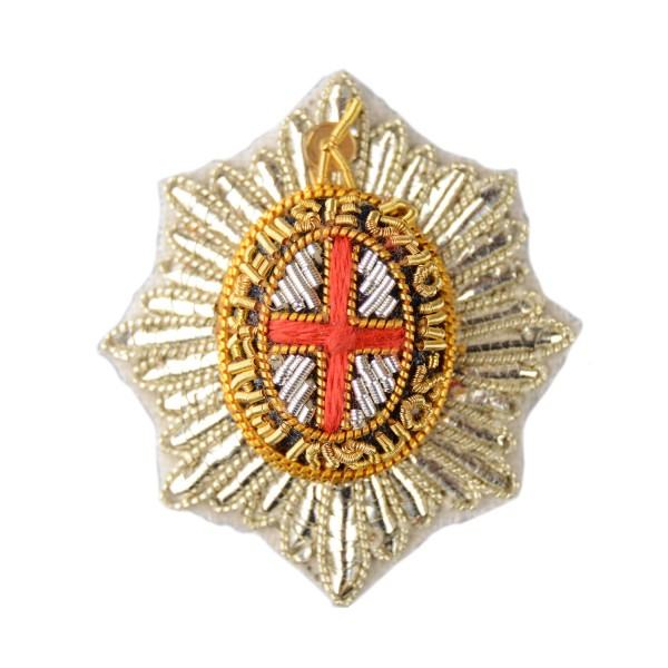 Officer - Garter Star - Rank Badge - Foot Guards, Household Division- British Army Badge