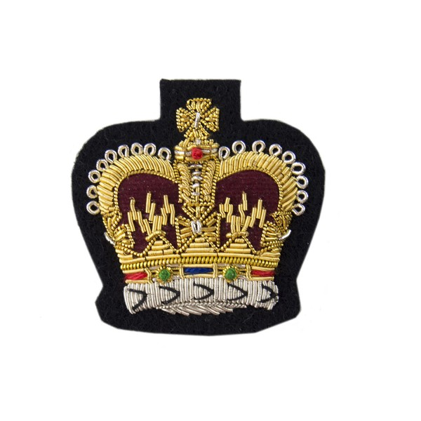 Quartermaster Sergeants, Colour Sergeants and Staff Sergeants - Small Rank Crown -  British Army Badge