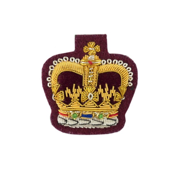 QMS, CSgt and SSgt - Small Rank Crown - Parachute Regiment / Royal Army Veterinary Corps - British Army Badge
