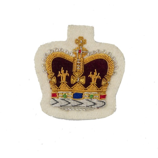 13th/ 18th and The Royal Lancers Large Crown Rank Badge - Warrant Officer Class 2 (WO2) and NCO - British Army