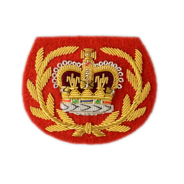 Army Medical Corps (WO2) - Crown and Wreath - Rank Badge - Combat Service Support - British Army Badge