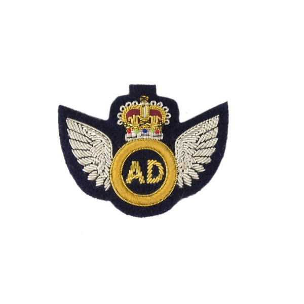 Air Despatch - Qualification Badge - Royal Logistics Corp (RLC) - Wings with Crown and AD - British Army Badge