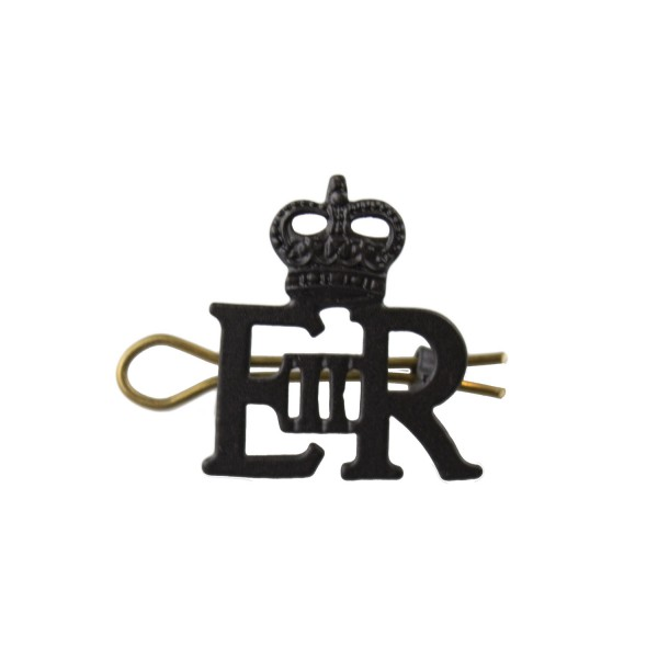 EIIR Small Black Royal Cypher and Crown - British Army