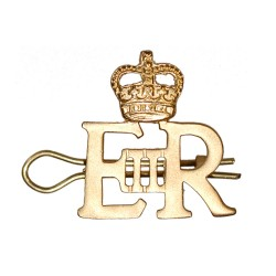 EIIR Small Gold Royal Cypher and Crown - British Army