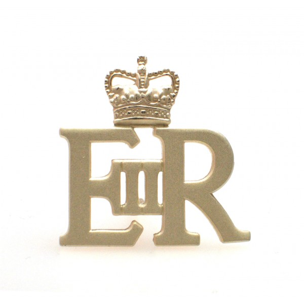 EIIR Army Officers Large Silver Royal Cypher and Crown - British Army