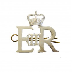 EIIR Large Silver Royal Cypher and Crown - British Army