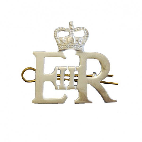 Large Silver Royal Cypher and Crown - British Army