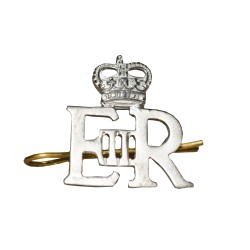 Officers Small Silver Royal Cypher and Crown - British Army