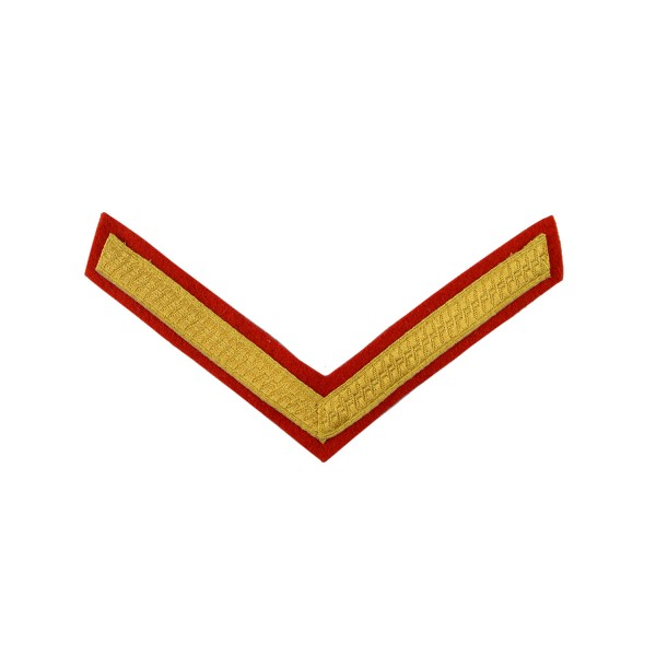 1 Bar Chevron Lance Corporal (LCpl) – Service Stripe - British Army Badge