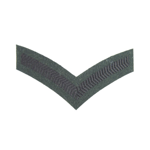 1 Bar Chevron Lance Corporal (LCpl) – Service Stripe - Royal Gurkha Rifles - British Army Badge