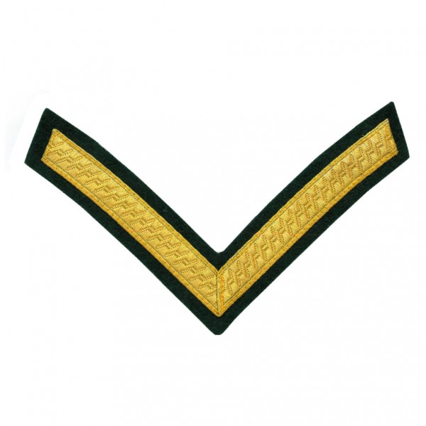 1 Bar Chevron Lance Corporal - Service Stripe Badge - Green Howards Yorkshire Regiment