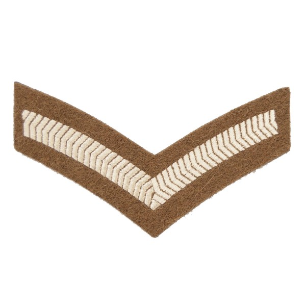 1 Bar Chevron Lance Corporal (LCpl) – Service Stripe - Small Arms School Corps - British Army Badge