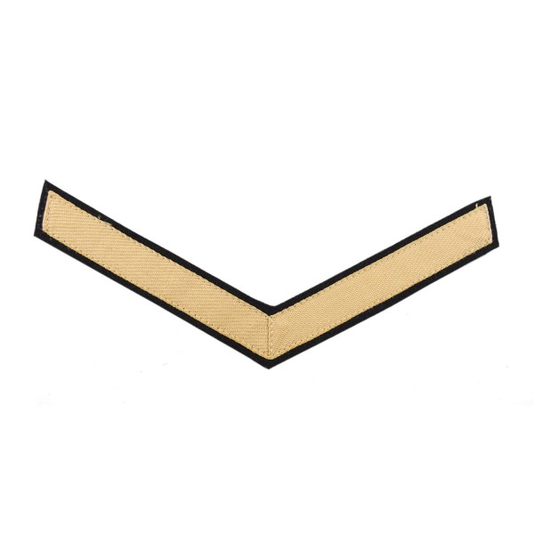 1 Bar Chevron Lance Corporal (LCpl) – Service Stripe - Household Cavalry (HCav), Kings Troop Royal Horse Artillery (RHA) - British Army Badge