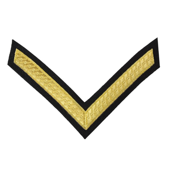 1 Bar Chevron Lance Corporal (LCpl) – Service Stripe - Royal Tank Regiment, Mercian Regiment - British Army Badge