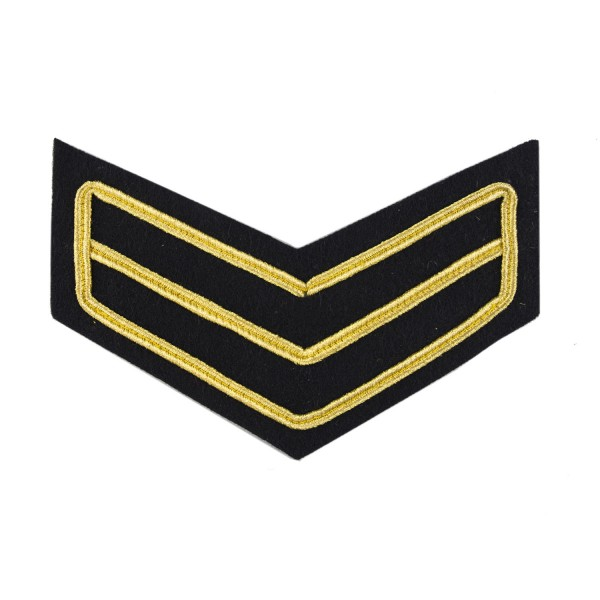2 Bar Chevron Corporal (Cpl) – Service Stripe – Household Division - Household Cavalry - British Army Badge