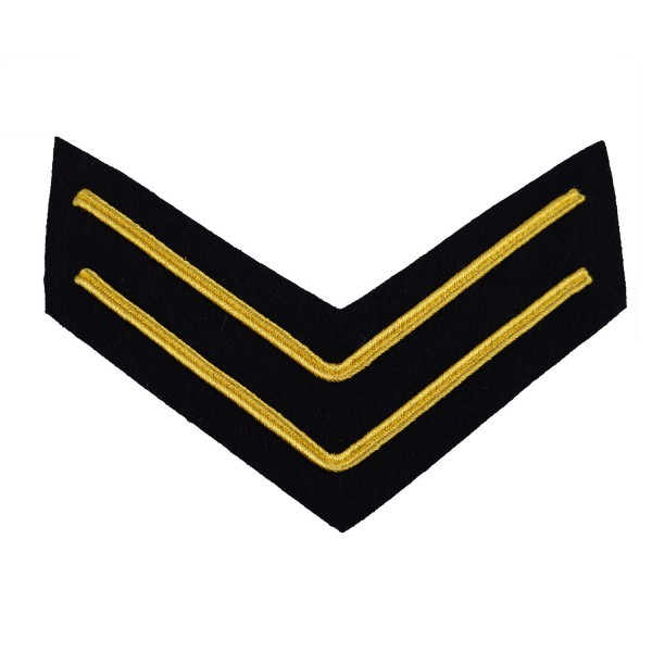 2 Bar Chevron Corporal – Service Stripe – Household Division - Household Cavalry - British Army Badge