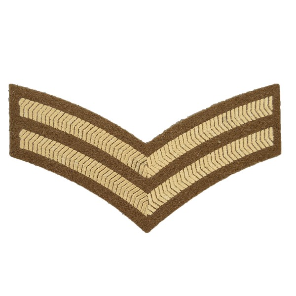 2 Bar Chevrons Corporal – Service Stripe – Honourable Artillery Company - Royal Artillery - British Army Badge
