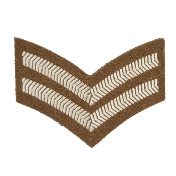 2 Bar Chevrons Corporal – Service Stripe - Small Arms School Corps - British Army Badge