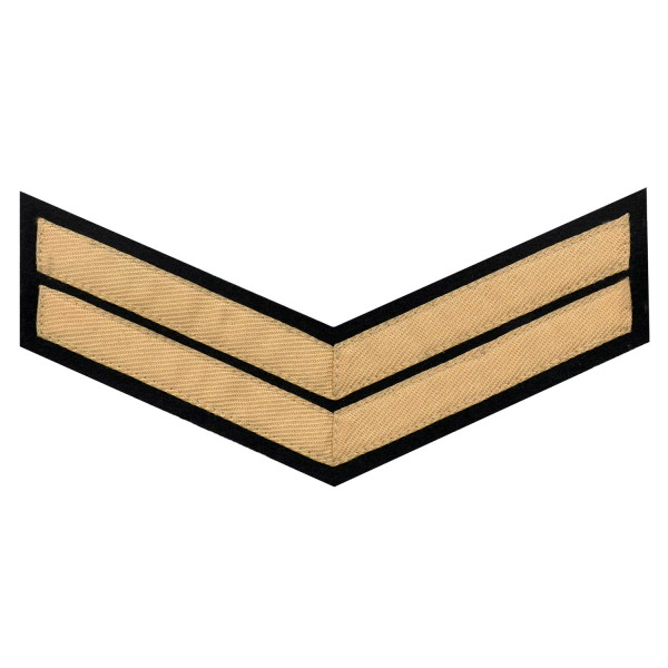 2 Bar Chevron Corporal (Cpl) – Service Stripe - Household Cavalry (HCav), Kings Troop Royal Horse Artillery (RHA) - British Army Badge