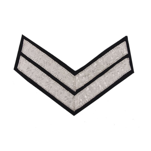 2 Bar Chevrons Corporal (Cpl) – Service Stripe - Royal Irish Regiment, Northern Irish Band (TA) - British Army Badge