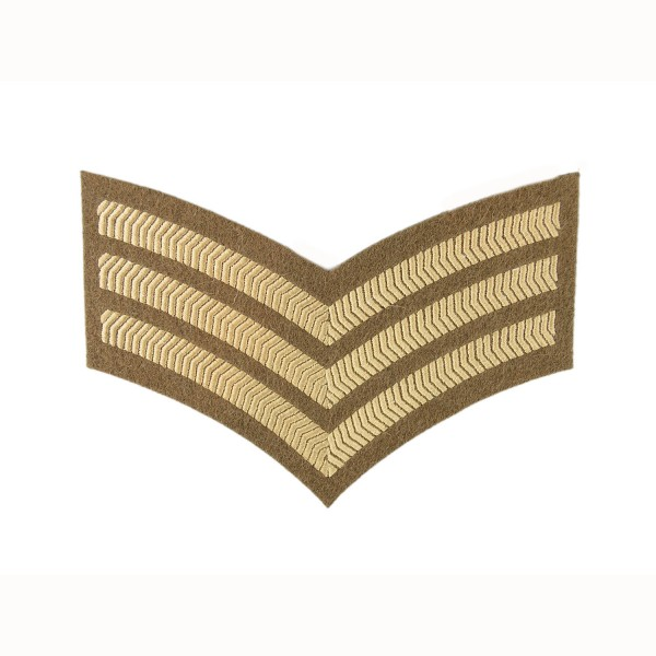3 Bar Chevrons Sergeant (Sgt) – Service Stripe – Honourable Artillery Company - Royal Artillery - British Army Badge
