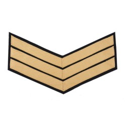 3 Bar Chevron Sergeant (Sgt) – Service Stripe - Household Cavalry (HCav), Kings Troop Royal Horse Artillery (RHA) - British Army Badge