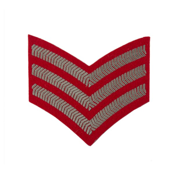 3 Bar Chevron Sergeant (Sgt) - Queen Alexandra's Royal Army Nursing Corps (QARANC) – Army Medical Services – British Army Badge
