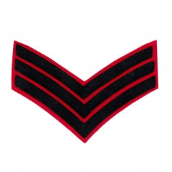 3 BAR CHEVRONS SERGEANT (SGT) - SERVICE STRIPE – NON FOOT GUARDS REGIMENT - BRITISH ARMY BADGE