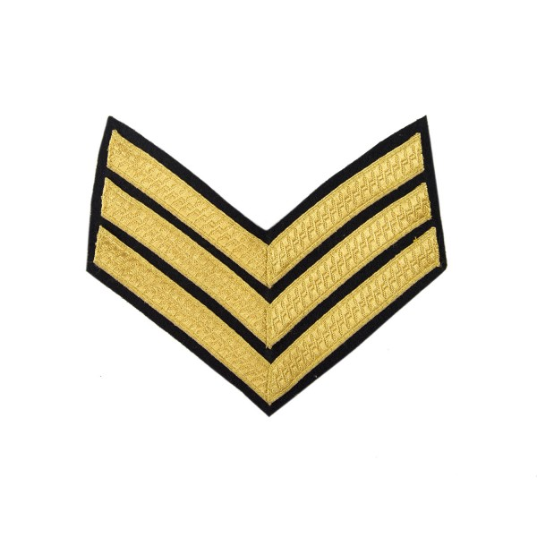 3 Bar Chevrons Sergeant (Sgt) – Service Stripe - Royal Armoured Corps - British Army Badge