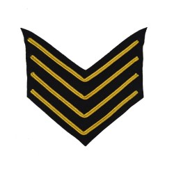 4 Bar Chevron Drum Major – Service Stripe – Household Division - Household Cavalry - British Army Badge