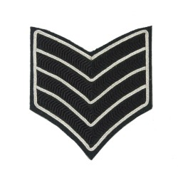 4 Bar Chevron Bugle Major - Service Stripe - The Rifles - British Army Badge